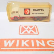 Trenes Escala: CAMION WIKING H0 1:87 MERCEDES DAUTEL LADEBORDWAND. Lote 198571268