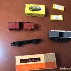 Trenes Escala: MARKLIN DISTRIBUTION BOARD 7209, CONTROL PLATE 7072 Y DESGUACE DE VAGONES. Lote 199526457