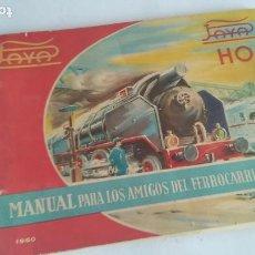 Trenes Escala: PAYÁ H0 CATÁLOGO DE FICHAS. AÑO 1960. VER FOTOS.A5 CERRADO APROX. Lote 199813345