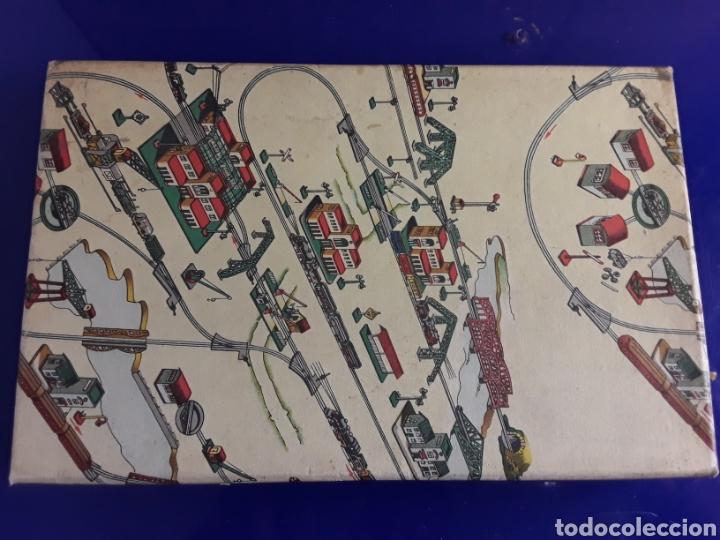 Trenes Escala: Cartelones de ferrocarriles de paya,en su caja original años 40 - Foto 3 - 199817477