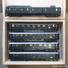 Trenes Escala: LILIPUT H0 COMPOSICIÓN DE 1 FURGÓN Y 4 COCHES DE VIAJEROS DE LA DB.. Lote 199839371