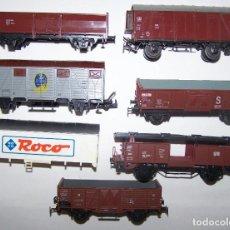 Trenes Escala: LOTE VAGONES PARA PIEZAS. MARCAS ROCO, LIMA, MARKLIN Y PIKO. DESGUACE.. Lote 199905575