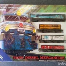 Trenes Escala: TREN DIESEL MERCANCIAS VALTOY . Lote 200024353