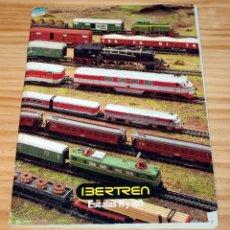 Trenes Escala: ANTIGUO CATALOGO DE TRENES IBERTREN - ESCALAS N Y H0. Lote 200098668