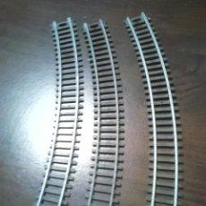 Trenes Escala: LOTE DE 3 VIAS CURVAS,DE TREN,PONE SC1-87 HO. Lote 201147437