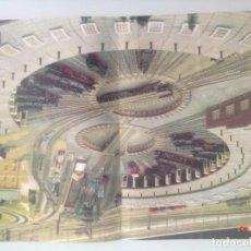 Trenes Escala: POSTER TREN, DEPOSITO DE VAPOR ROTONDA 43X30. Lote 201303325