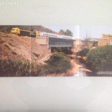 Trenes Escala: POSTER TREN, DIURNO SIERRA DE GREDOS BARCELONA-CACERES, HOBBYTREN 59X21. Lote 201303656