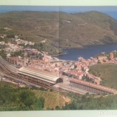 Trenes Escala: POSTER TREN 59X40, ESTACIÓN DE PORT BOU, HOBBYTREN. Lote 201304246