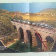 Trenes Escala: POSTER TREN, 42X30, TALGO PENDULAR CON LOCOMOTORA CC-72.000, MAQUETREN . Lote 201305327