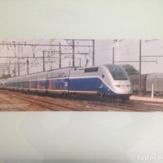 Trenes Escala: POSTER TREN , 59X21, TGV DUPLEX EN ESTACIÓN ARLEX , HOBBYTREN. Lote 201306141