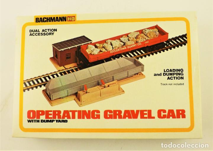 BACHMANN 1426 H0 CONJUNTO CARGA Y DESCARGA GRAVA (Juguetes - Trenes - Varios)