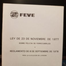 Trenes Escala: LEY DE POLICÍA DE FERROCARRILES. FEVE.. Lote 201685238