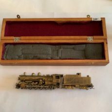 Trenes Escala: TENSHODO LOCOMOTORA LATON ARTESANAL. Lote 202992348