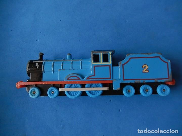 Trenes Escala: Especie de tren infantil. ERTL. DYERSVILLE IOWA USA. Thomas the Tank Engine & Friends. Años 80/90. - Foto 4 - 23754302