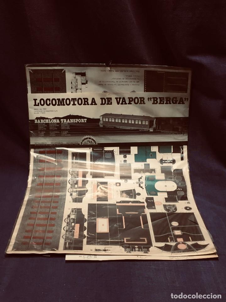 Usado, RECORTABLE LOCOMOTORA VAPOR BERGA ESCALA 1:43,5 LA CIUTAT DE PAPER BARCELONA TRANSPORT 1984 segunda mano