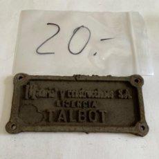 Trenes Escala: PLACA BOGIE VAGON RENFE. Lote 204807476