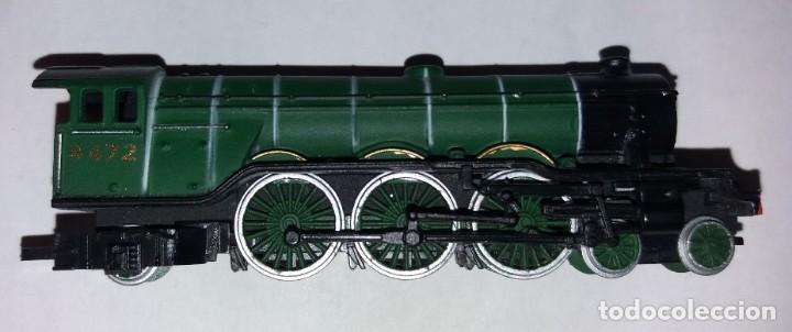 Trenes Escala: BONITO TREN LOCOMOTORA CON VAGON MINIATURA - Foto 3 - 206188560