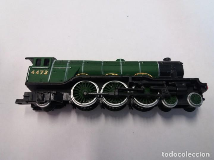 Trenes Escala: BONITO TREN LOCOMOTORA CON VAGON MINIATURA - Foto 5 - 206188560
