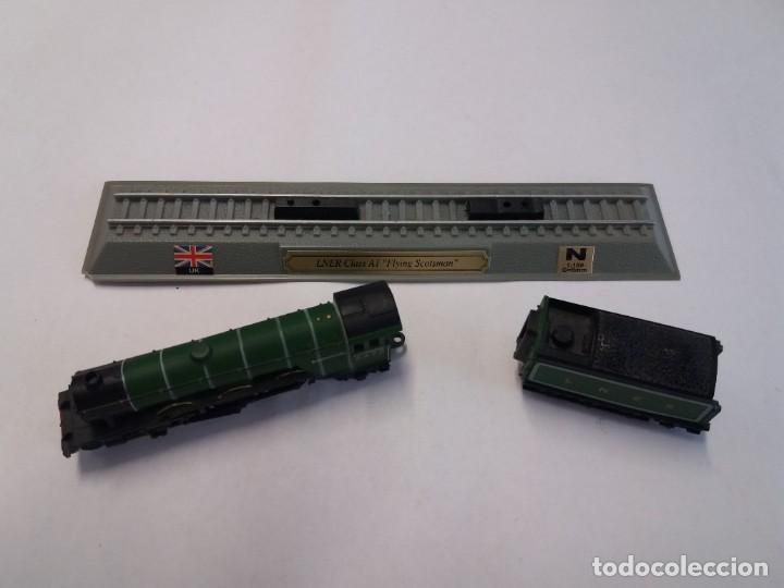 Trenes Escala: BONITO TREN LOCOMOTORA CON VAGON MINIATURA - Foto 8 - 206188560