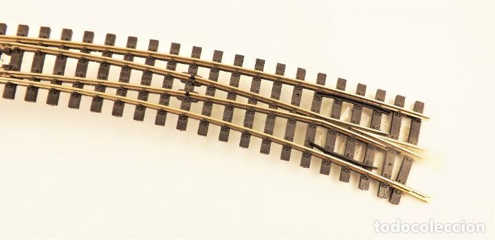 Trenes Escala: Vía métrica (via estrecha) Peco Desvío curvo derecha eléctrico H0m SL88 + PL11 - Foto 3 - 217803607