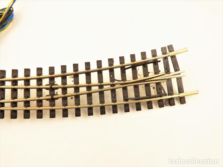 Trenes Escala: Vía métrica (via estrecha)Peco Desvío curvo izquierda eléctrico H0m SL87 + PL11 - Foto 3 - 217803210