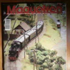 Trenes Escala: REVISTA - MAQUETREN - AFICIONADOS TREN, TRENES ELÉCTRICOS A ESCALA Y MAQUETAS,, FERROVIARIOS Nº 185. Lote 206469432