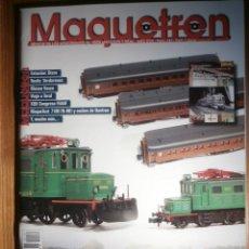 Trenes Escala: REVISTA - MAQUETREN - AFICIONADOS TREN, TRENES ELÉCTRICOS A ESCALA Y MAQUETAS,, FERROVIARIOS Nº 187. Lote 206469901