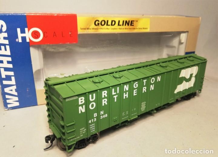 WALTHERS GOLDLINE 932-40551. ESCALA H0. VAGÓN 50' AIRSLIDE HOPPER. BURLINGTON NORTHERN. #413348 (Juguetes - Trenes Escala H0 - Otros Trenes Escala H0)