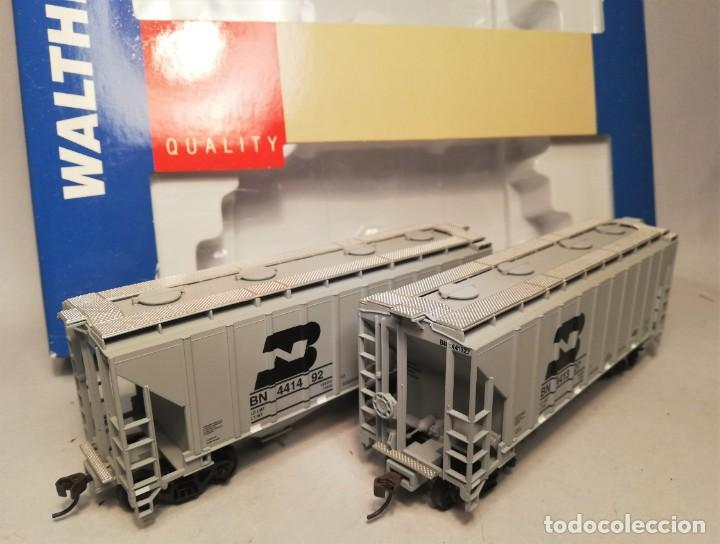 Trenes Escala: WALTHERS 932-25372. Escala H0. Set 2 Vagones americanos Trinity 100 ton cement covered hopper. BN - Foto 1 - 206749991