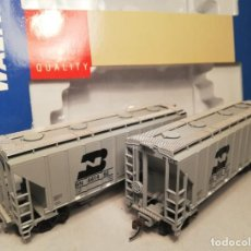 Trenes Escala: WALTHERS 932-25372. ESCALA H0. SET 2 VAGÓNES TRINITY 100 TON CEMENT COVERED HOPPER. BN. Lote 206749991