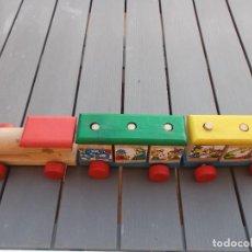 Trenes Escala: TREN DE MADERA DESMONTABLE NORTE MARCA JOC - DI JUGUETES TORELLO 55 X 11 REF 11514 AÑOS 70. Lote 206954013