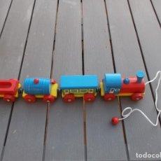 Trenes Escala: TREN DE MADERA DESMONTABLE MERCANCIAS AÑOS 70 MODELO 412 45X 70 MARCA TORELLO. Lote 206958943