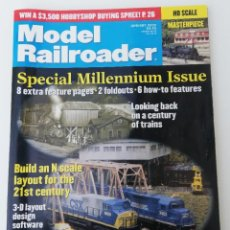 Trenes Escala: REVISTA MODEL RAILROADER - JANUARY 2000 MILLENIUM ISSUE. AMERICANA. EN INGLÉS.. Lote 207061193