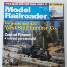 Trenes Escala: REVISTA MODEL RAILROADER - FEBRUARY 2000. AMERICANA. EN INGLÉS.. Lote 207061326