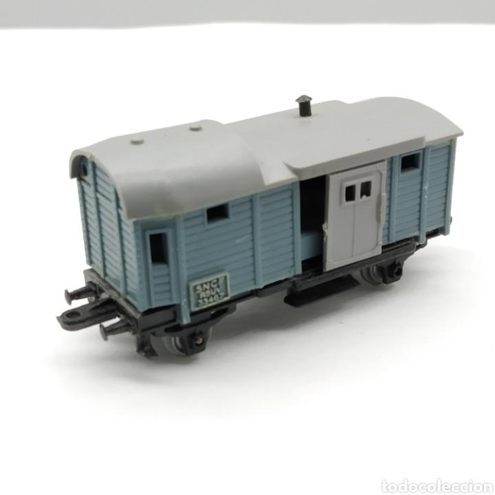 Trenes Escala: LOTE DE 1 MÁQUINA y 3 VAGONES MAJORETTE RAIL ROUTE ESCALA 1/143 INICIO DE LOS AÑOS 60 - Foto 10 - 208012562