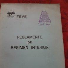 Trenes Escala: REGLAMENTO DE RÉGIMEN INTERIOR DE FEVE. AÑO 1973. Lote 208367142