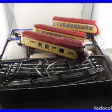 Trenes Escala: MAGNIFICO TREN DE PAYA PRIMERA EPOCA COMPLETO. Lote 208954657