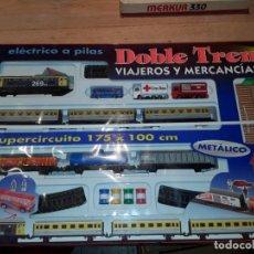 Trenes Escala: PEQUETREN DOBLE TREN CON LUZ, NUEVO PRECINTADO.. Lote 208996337