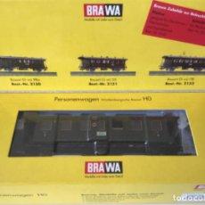 Trenes Escala: H0 VAGÓN BRAWA TERCERA DE DRG. REF2150. PIEZA DE MUSEO.. Lote 210225711