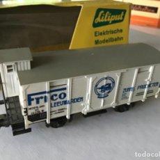 Trenes Escala: H0 LILIPUT VAGÓN DE MERCANCÍAS FRICO. PRECIOSO, MUY BUEN ESTADO. Lote 210249286