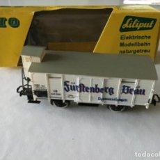 Trenes Escala: H0 LILIPUT. VAGÓN MERCANCÍAS DE CERVEZA FURSTEMBERG. PRECIOSO, BUEN ESTADO. Lote 210249490