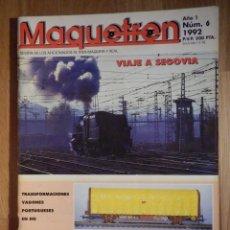 Trenes Escala: REVISTA - MAQUETREN - AFICIONADOS TREN, TRENES ELÉCTRICOS A ESCALA Y MAQUETAS, FERROVIARIOS, Nº 6. Lote 210368767