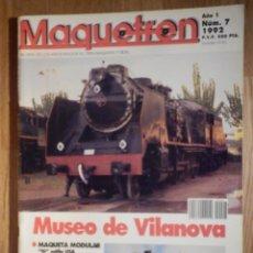 Trenes Escala: REVISTA - MAQUETREN - AFICIONADOS TREN, TRENES ELÉCTRICOS A ESCALA Y MAQUETAS, FERROVIARIOS, Nº 7. Lote 210368990