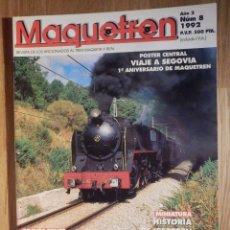 Trenes Escala: REVISTA - MAQUETREN - AFICIONADOS TREN, TRENES ELÉCTRICOS A ESCALA Y MAQUETAS, FERROVIARIOS, Nº 8. Lote 210369280