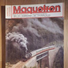 Trenes Escala: REVISTA - MAQUETREN - AFICIONADOS TREN, TRENES ELÉCTRICOS A ESCALA Y MAQUETAS, FERROVIARIOS, Nº 2. Lote 210370212