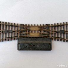 Trenes Escala: FLEISCHMANN Nº 25-15 DOBLE CAMBIO DE VIA, MADE IN WESTERN GERMANY. Lote 210538547