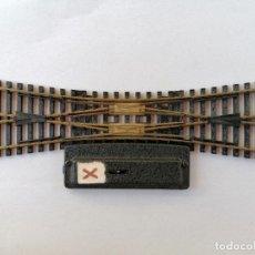 Trenes Escala: FLEISCHMANN Nº 25-15 DOBLE CAMBIO DE VIA, MADE IN WESTERN GERMANY. Lote 210538622