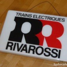 Trenes Escala: ANTIGUO ROTULO LUMINOSO TRENES MINIATURA RIVAROSSI. Lote 210950900