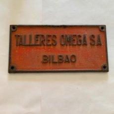 Trenes Escala: RENFE PLACA ORIGINAL TALLERES OMEGA S.A BILBAO. Lote 214016471