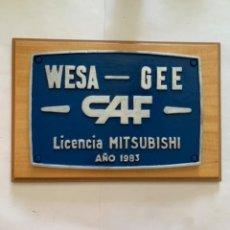 Trenes Escala: RENFE PLACA ORIGINAL MITSUBISCHI. Lote 214017795